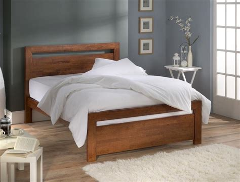 Wood Bed Frame With Headboard by Simple Wood Bed Frame Ideas Homesfeed