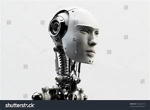 Stylish Handsome Cyborg Head Profile Futuristic Stock ...
