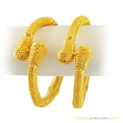 22k gold exclusive kada 2 pcs baka11571 22k gold designer pipe kada 2 pcs designed