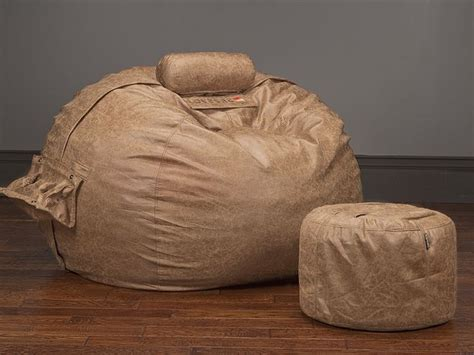 Lovesac Moviesac by Saddle Microleather Moviesac Package Lovesac Leather