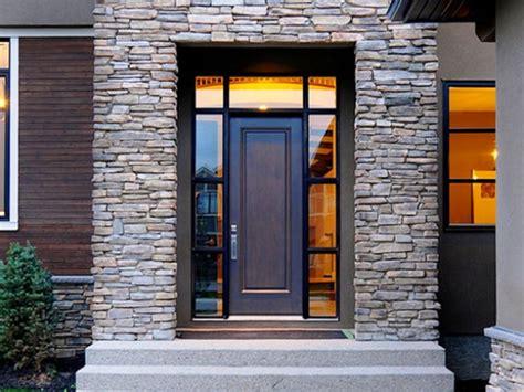 model rumah minimalis  batu alam  unik