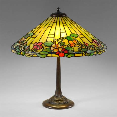 Duffner And L Base by Duffner Leaded Glass Table L