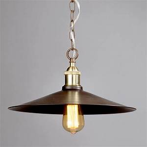 Light industrial diner ceiling pendant bronze from