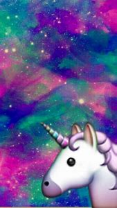 Unicorn Galaxy Backgrounds With Emojis