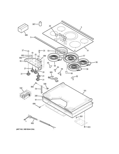 ge jpslss electric cooktop parts sears partsdirect