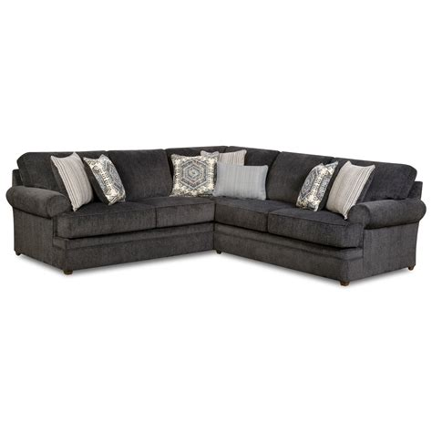 Simmons Upholstery 8530 Br 8530brlafbsectsofa Transitional