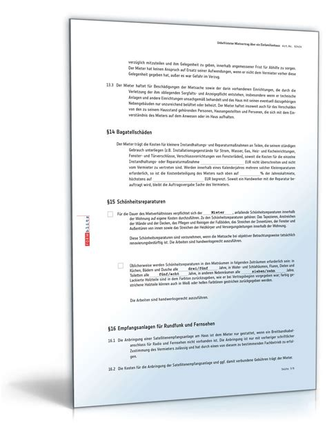 Mietvertrag Einfamilienhaus Muster Als Pdf & Doc Downloaden