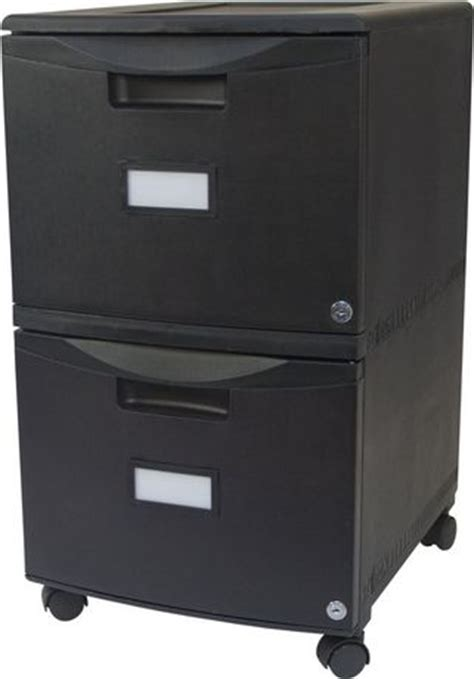Double Drawer Mobile Filing cabinet, with lock and Casters