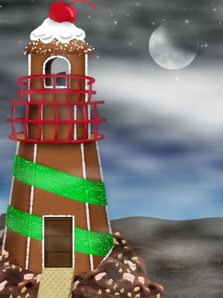 gingerbread lighthouse  picture  jpdesigns