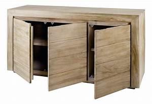 Meuble Bas Salle à Manger : meuble bas 3 portes en teck cosmopolitan 3 portes ~ Teatrodelosmanantiales.com Idées de Décoration