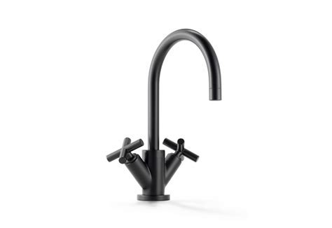 Tara black single hole basin mixer by Dornbracht   STYLEPARK