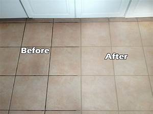does cleaning grout with baking soda and vinegar really work With how to clean white tile floors