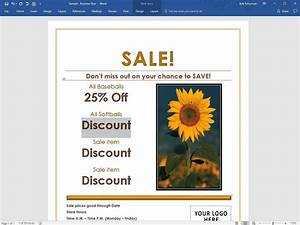 Design Your Own Flyer How To Make A Business Flyer In Word