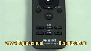 Philips 996510059695 Sound Bar System Remote