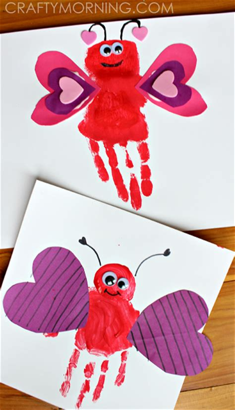 list of easy s day crafts for crafty morning 465 | HANDPRINT love bug valentine craft for kids