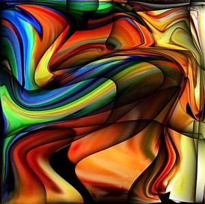 Abstract Colorful Unique Swirl Digital Art by Teo Alfonso