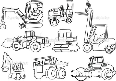construction vehicles coloring pages   print