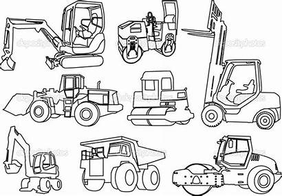 Construction Coloring Pages Printable Equipment Vehicles Truck