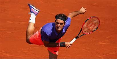Federer Roger Serve Volley Clay Easy Feels
