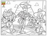 Coloring Toy Story Pages Woody Buzz Jessie sketch template