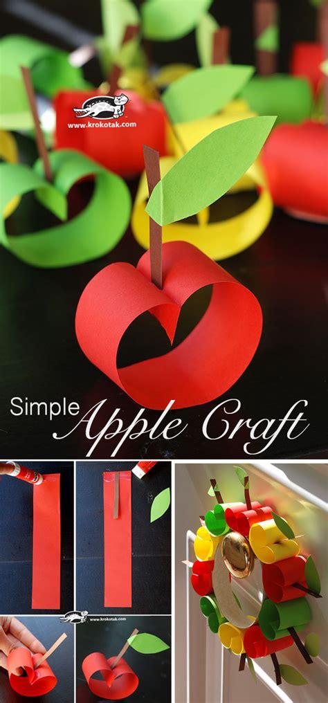 krokotak simple apple craft