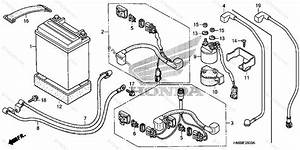 Honda Atv 2007 Oem Parts Diagram For Battery