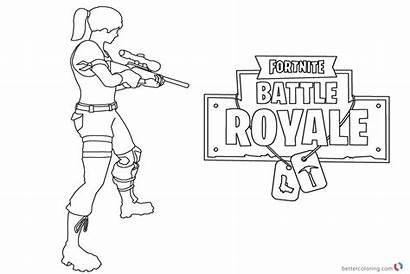 Fortnite Coloring Battle Royale Pages Printable Season
