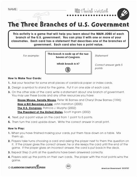 Limiting Government Icivics Worksheet Answer Key  Briefencounters Worksheet Template Samples