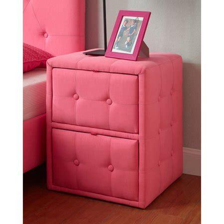 Pink Nightstand upholstered nightstand pink walmart