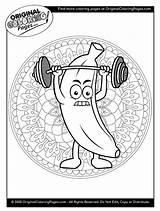 Coloring Banana Below Any sketch template