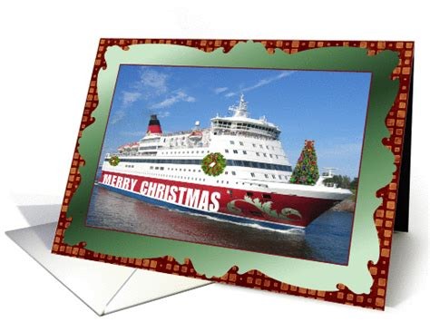 merry christmas cruise  decorated ship card
