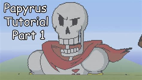 minecraft pixel art tutorial papyrus part  undertale