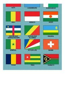 francophone flag poster les pays francophones  robin