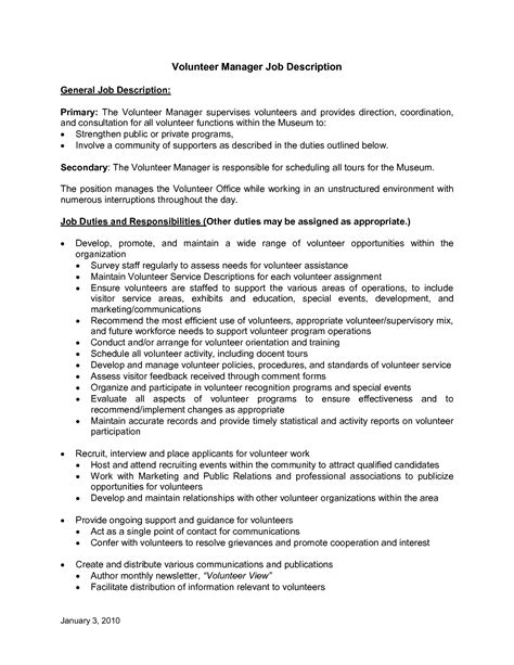 volunteer work resume samples best photos of volunteer job descriptions for resume