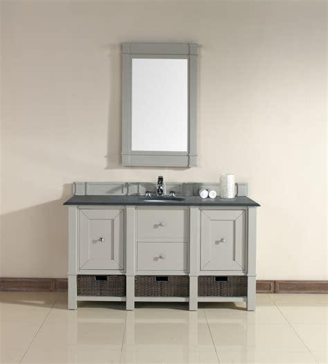 60 inch single sink bathroom vanity in dove gray