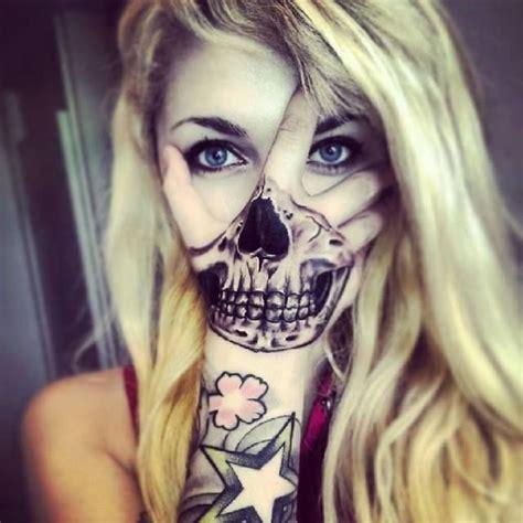 girl skull tattoos ideas  pinterest sugar