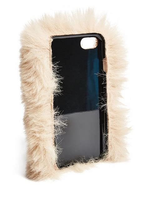 iphone 7 faux fur gbyguess canada