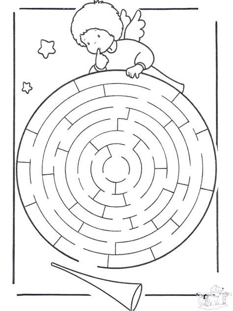 engelchen labyrinth basteln labyrinth