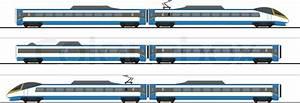 Pendolino high-speed train vector graphic | Stock Vector ...