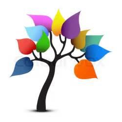 tree color design graphic vector stock vector colourbox