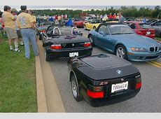 BMW Z3 + motocycle trailer A motorcycle trailer, don't