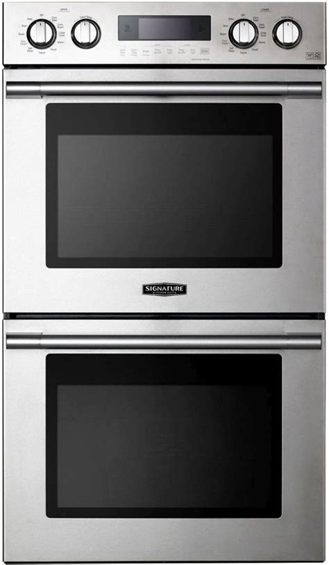 signature kitchen suite  stainless steel electric double oven built  upwdst