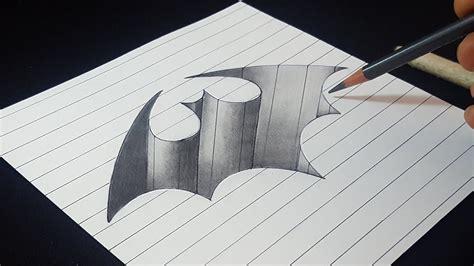 batman logo hole easy trick drawing pencil shading
