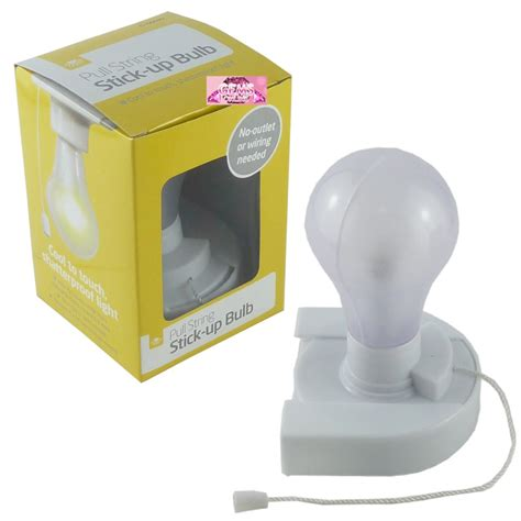 stick on bulb light pull cord wireless battery operated