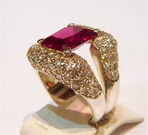 Ruby Emerald Shaped And Cubic Zir Nia Dazzling Sterling
