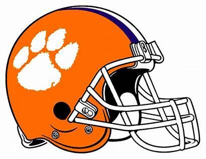 Football Helmet Clipart Clemson Orange Clip Drawing