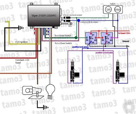 Bmw Door Lock Actuator Wiring Diagram by 2 Actuators 1 Switch 2 Relays Or 4 Relays