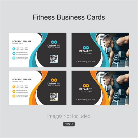 fitness business card template  images fitness