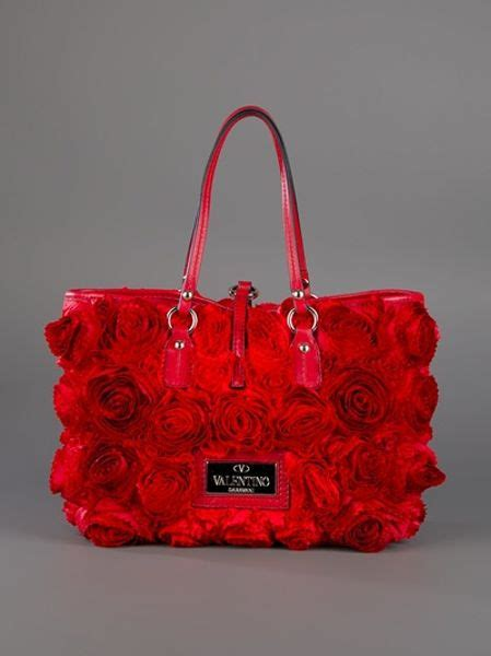 valentino rose bag  red rose lyst
