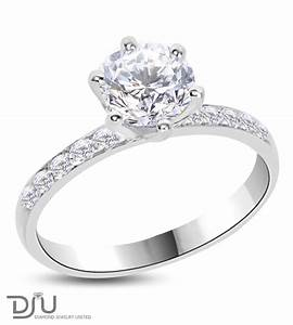 107 ct e vs2 round diamond solitaire engagement ring 14k for 1 ct wedding ring